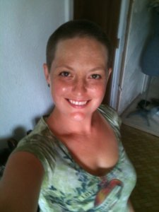 In 2011 I shaved my head-total G.I. Jane move-and it grew back dark and curly.