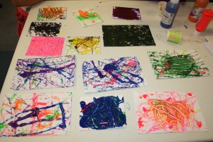 Marble Painting was a fun program I did last summer for kids at several Pierce County Libraries.