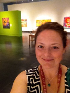 TAM selfie. I really enjoy my time there and the people, and of course being surrounded by art!
