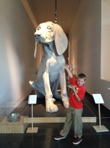 My son, Rubin, posing with Leroy.
